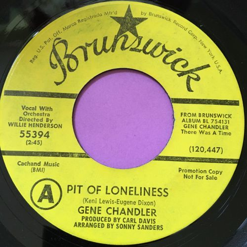 Gene Chandler-Pit of loneliness/Teacher teacher-Brunswick Demo E+