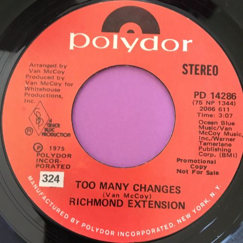 Richmond Extension-Too many changes-Polydor E+
