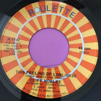 Cliff Nobles-This feeling of loneliness-Roulette E+