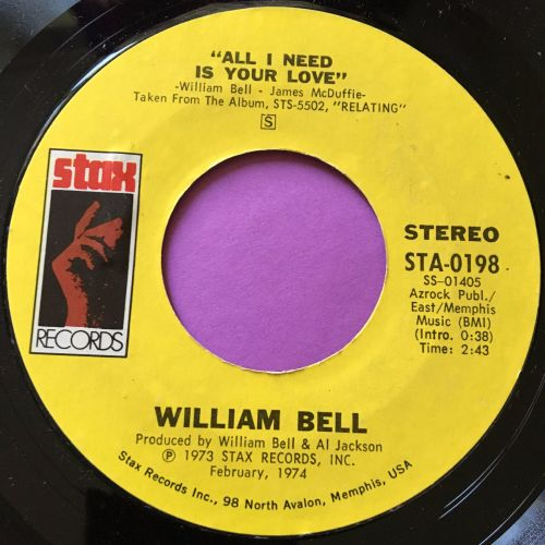 William Bell-All I need is your love-Stax E+