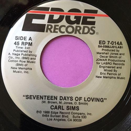 Carl Sims-Seventeen days of loving-Edge M-