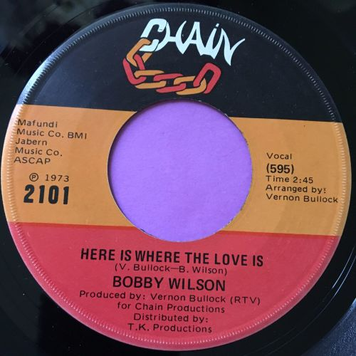 Bobby Wilson-Here is where the love is-Chain E+