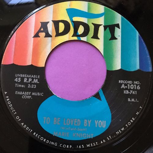 Marie Knight-To be loved by you-Addit E+