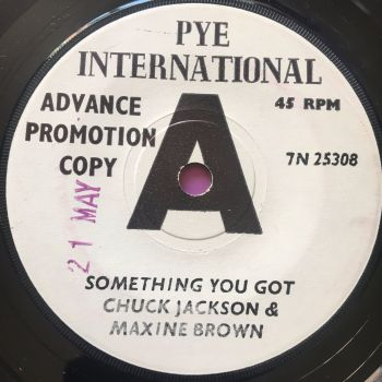 Chuck Jackson & Maxine Brown-Something you got-UK Pye WD E+