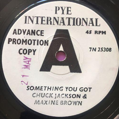 Chuck Jackson & Maxine Brown-Something you got-UK Pye WD E+