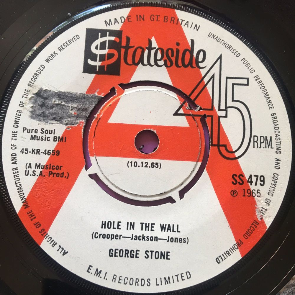 George Stone-Hole in the wall-UK Stateside label tear E+