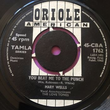 Mary Wells-You beat me to the punch-UK Oriole vg