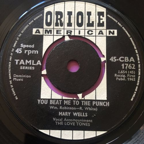 Mary Wells-You beat me to the punch-UK Oriole vg+