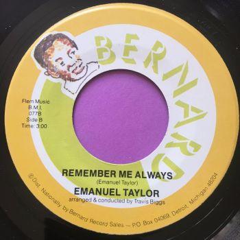 Emanuel Taylor-Remember me always-Bernard E+