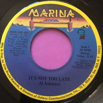Al Johnson-It's not too late-Marina M-