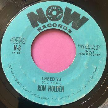 Ron Holden-I need ya-Now E+