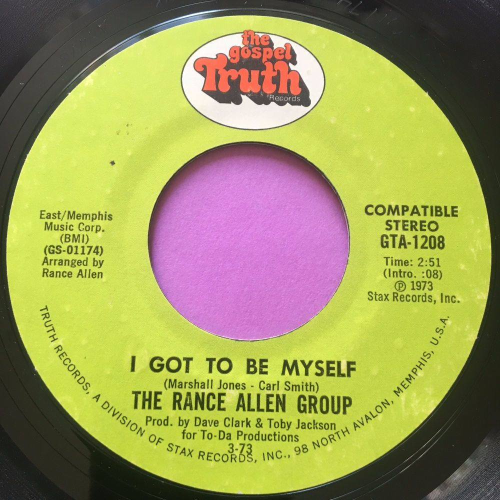 Rance Allen-I got to be myself-Gospel truth E