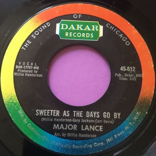 Major Lance-Sweeter as the days go by-Dakar E+