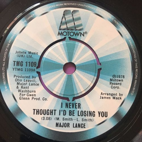 Major Lance-I never thought I'd be losing you-UK TMG E+