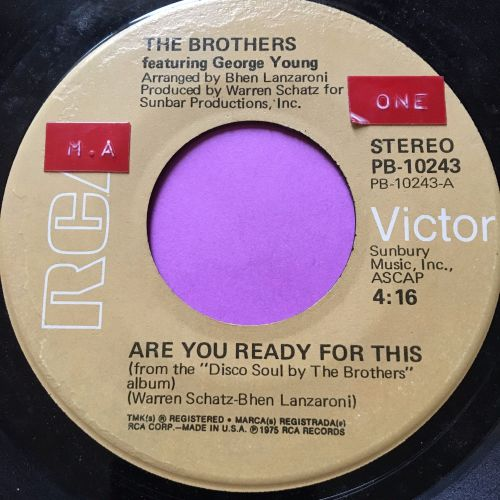 Brothers-Are you ready for this-RCA skr E+