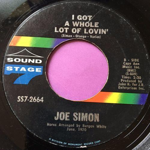 Joe Simon-I got a whole lot of lovin'-Sound stage 7 E+