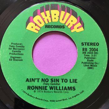 Ronnie Williams-Ain't no sin to lie-Roxbury M-