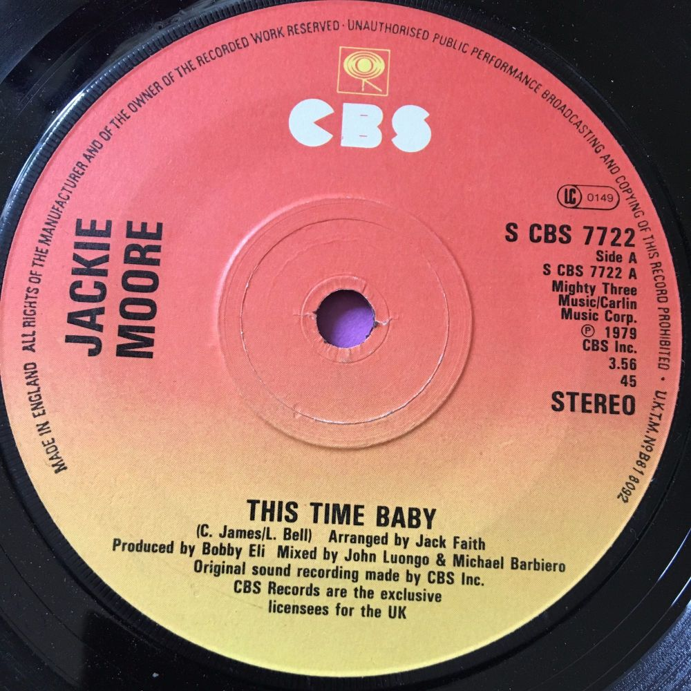 Jackie Moore-This time baby-UK CBS E+