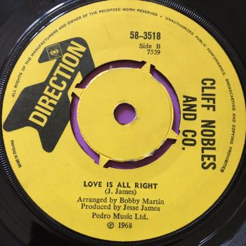 Cliff Nobles-Love is alright-UK Direction E+
