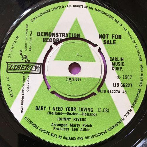 Johnny Rivers-Baby I need your loving-UK Liberty E