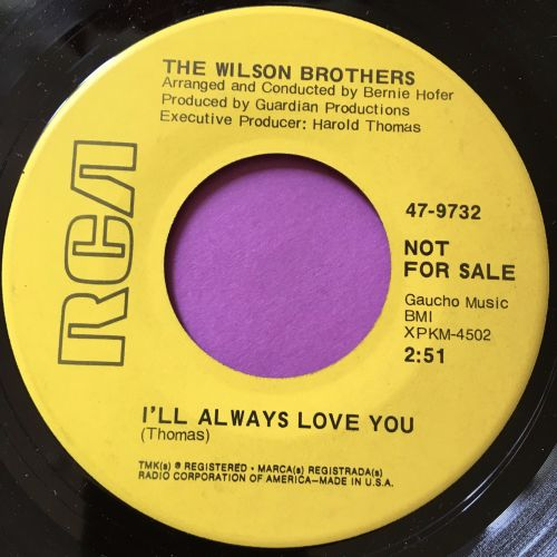 Wilson Brothers-I'll always love you-RCA Demo E+