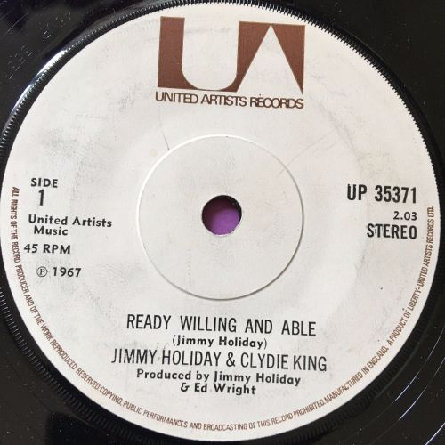 Jimmy Holiday & Clydie King-Ready willing and able-UK UA E