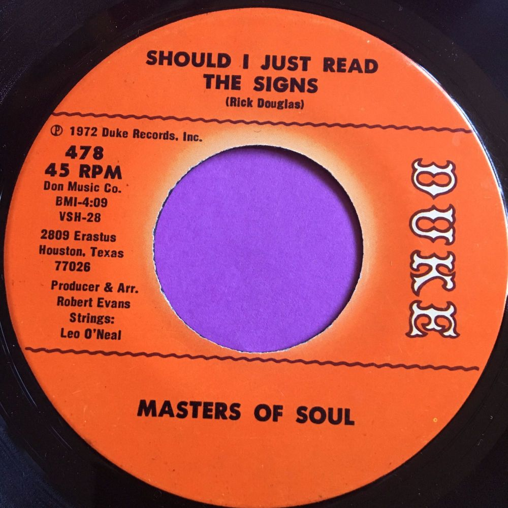 Masters of Soul-Should I just read the signs-Duke E+