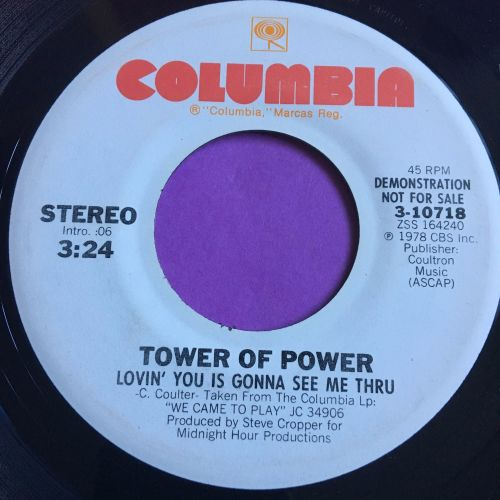 Tower of Power-Lovin' you is gonna see me through-Columbia WD E