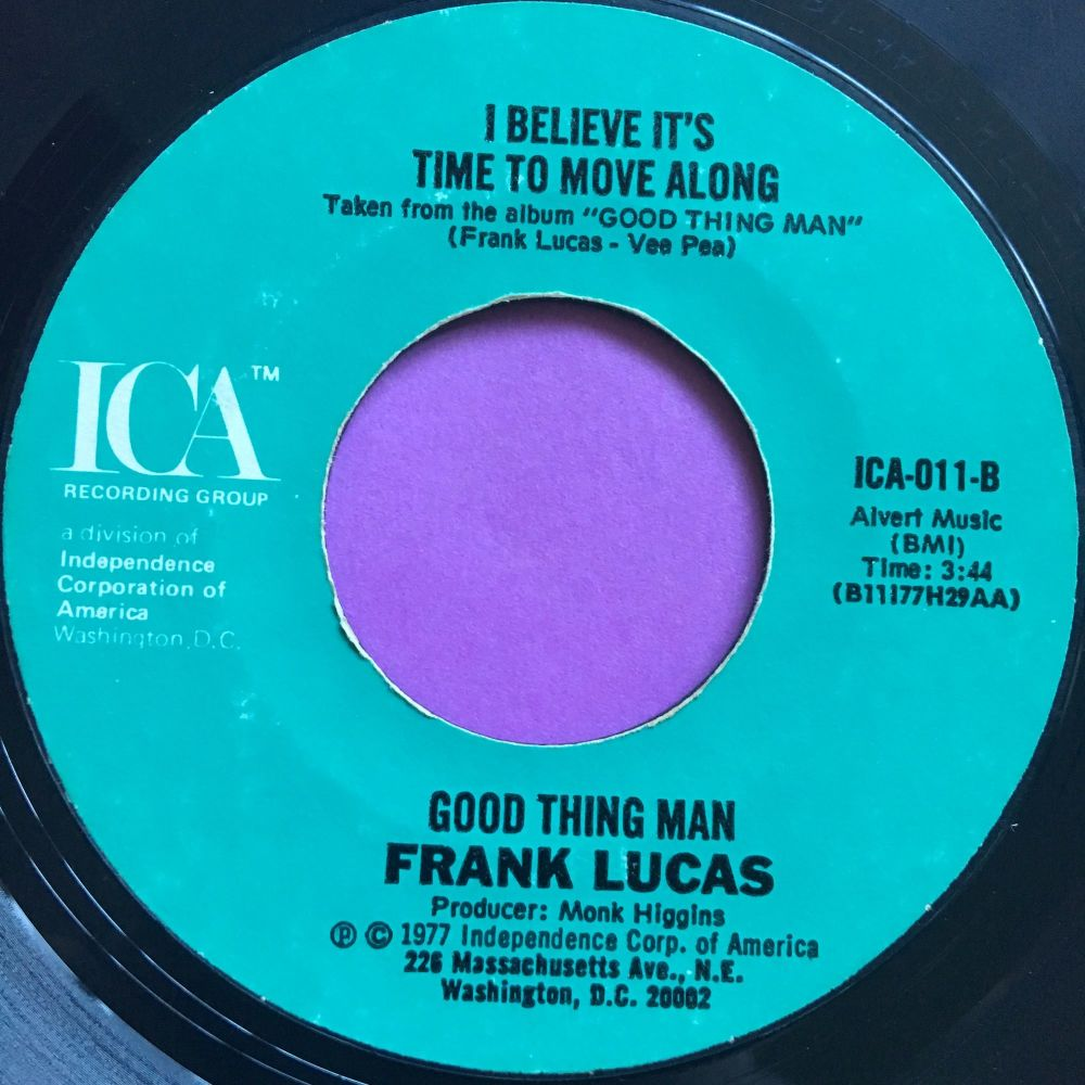 Frank Lucas-I believe it's time to move along-ICA E+