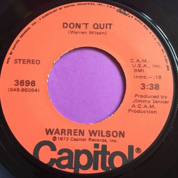 Warren Wilson-Don't quit/Forget my name-Capitol  E+