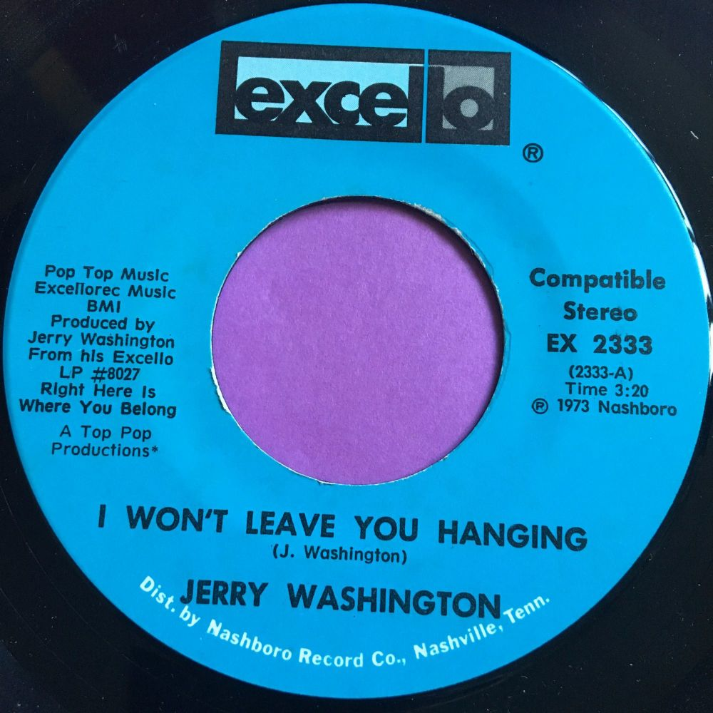 Jerry washington-I won't leave you hanging-Excello E