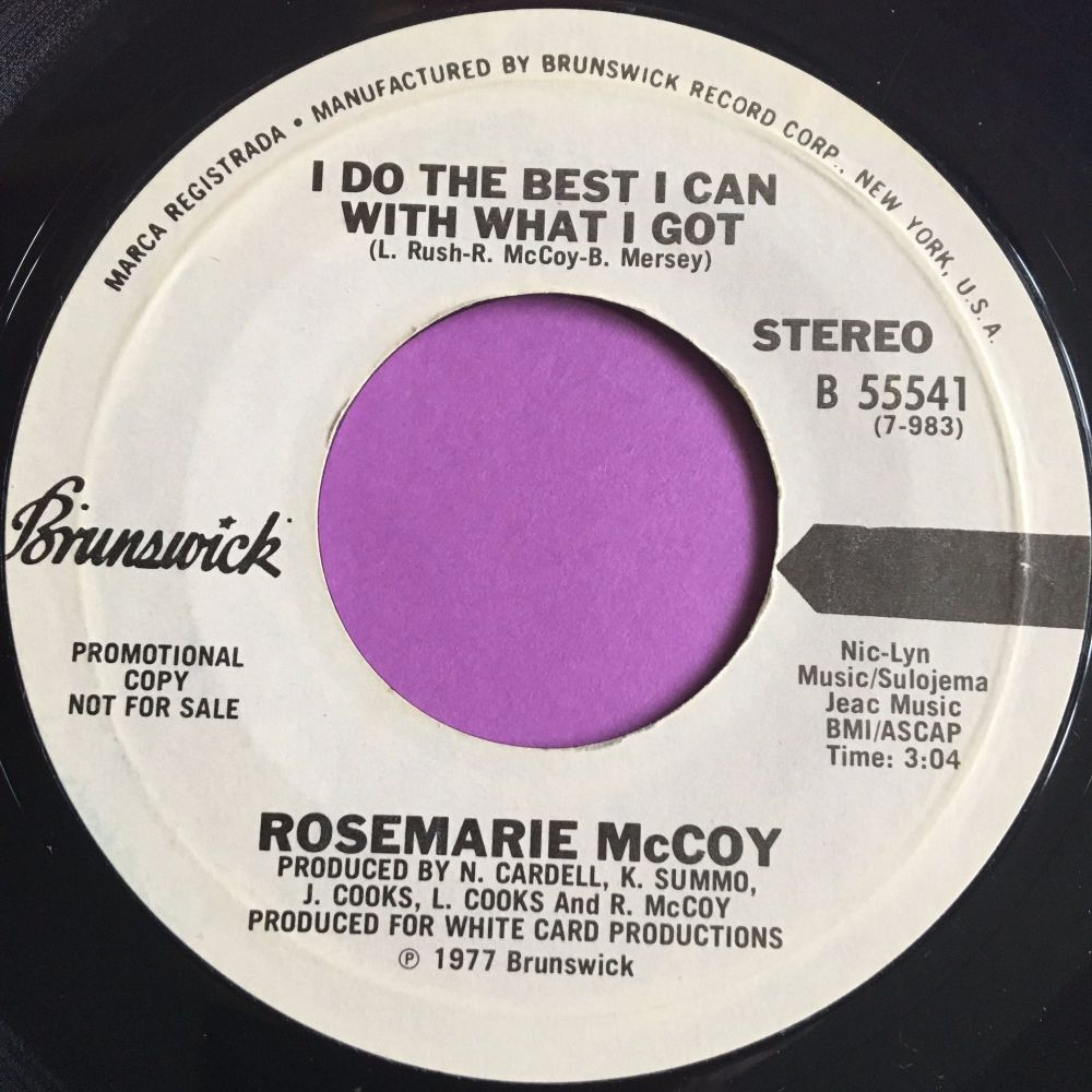 Rosemarie McCoy-I do the best I can-Brunswick WD E