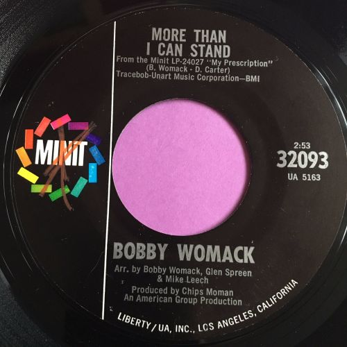 Bobby Womack-More than I can stand-Minit E+