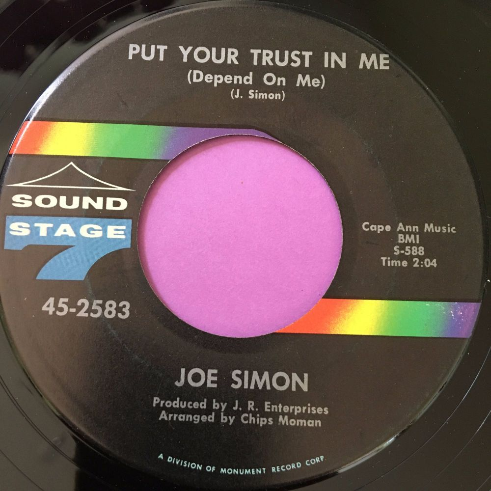 Joe Simon-Put your trust in me/ Just a dream-SS7 E+