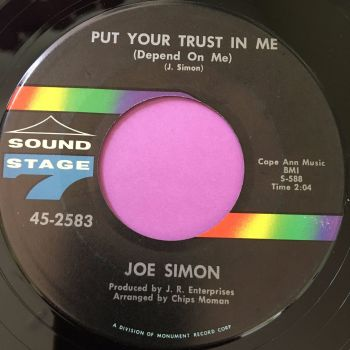 Joe Simon-Put your trust in me/ Just a dream-SS7 E+