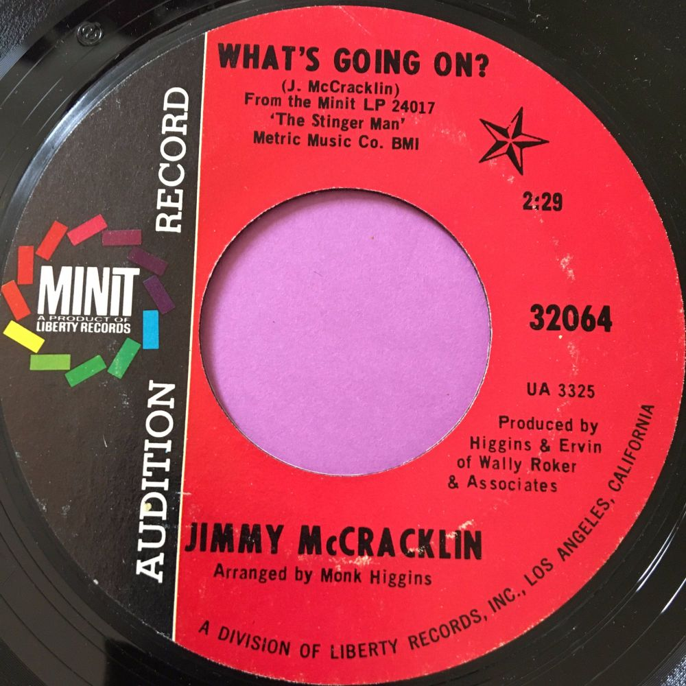Jimmy McCracklin-What's going on-Minit demo E+
