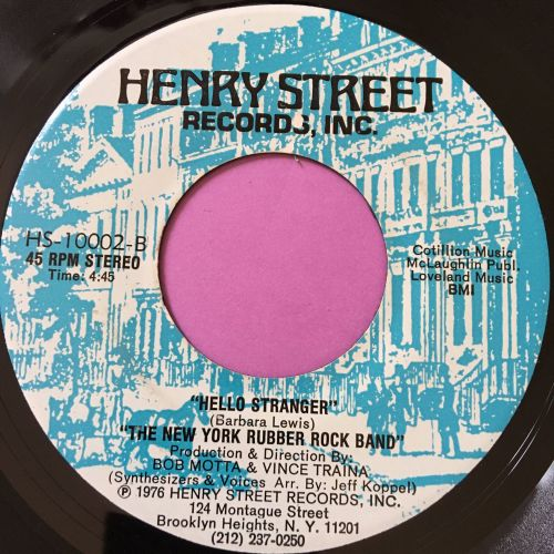 New York Rubber rock band-Hello stranger-Henry street E+
