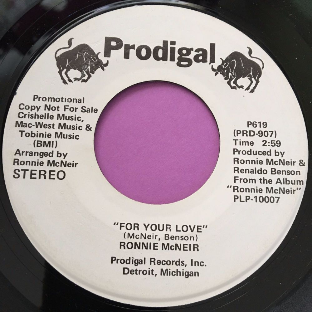 Ronnie McNeir-For your love-prodigal WD M-t