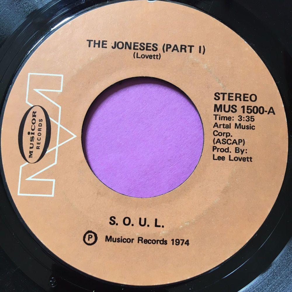 SOUL-The Joneses-Musicor E+