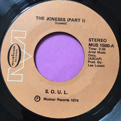 SOUL-The Joneses-Musicor E+