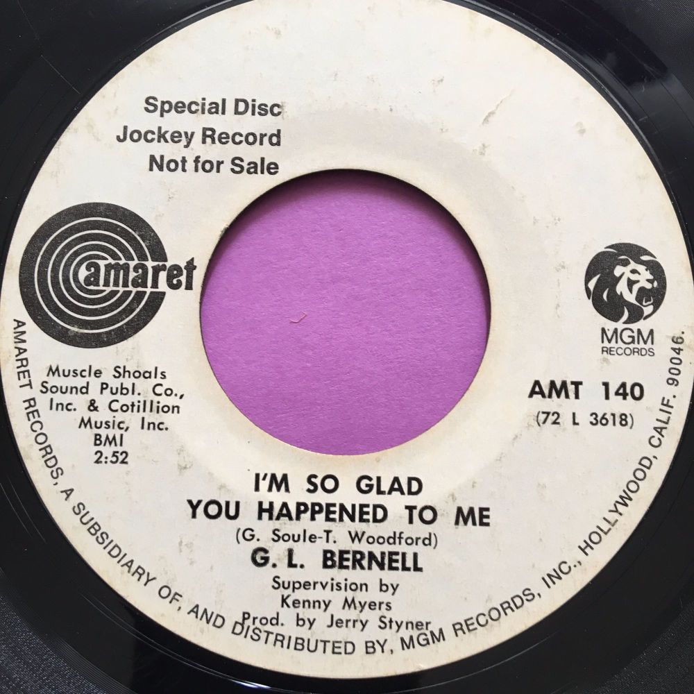 G.L Bernell-I'm so glad it happened to me-Amaret  WD vg+