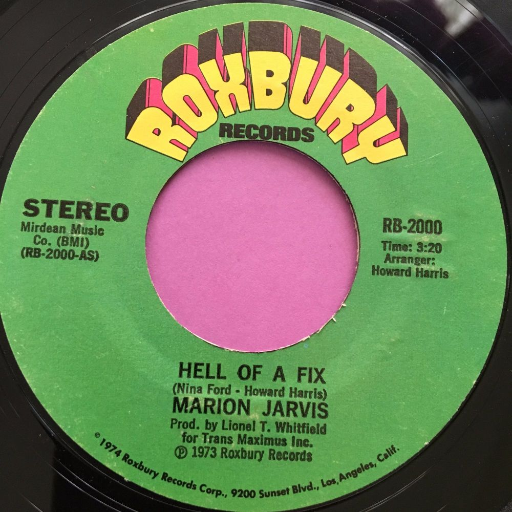 Marion Jarvis-Hell of a fix-Roxbury E