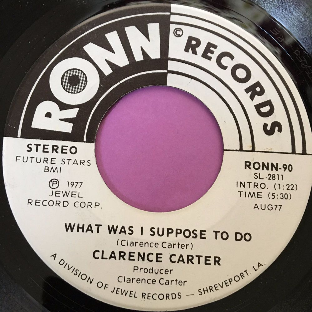 Clarence Carter-What was i Supposed to do-Ronn WD E+