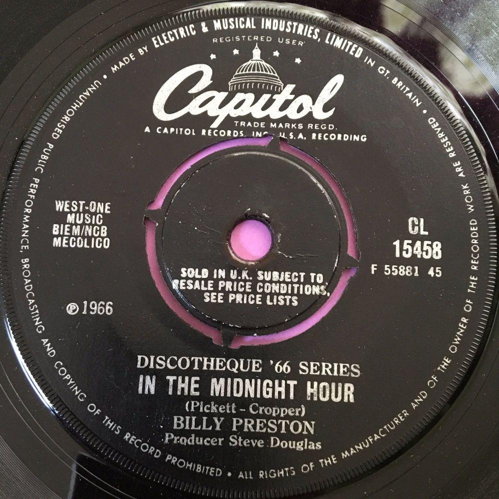 Billy Preston-Midnight hour-Capitol vg+
