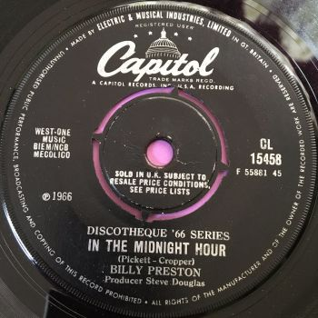 Billy Preston-Midnight hour-Capitol vg+