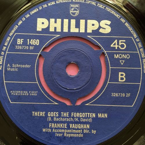 Frankie Vaughan-There goes the forgotten man-UK Philips E+