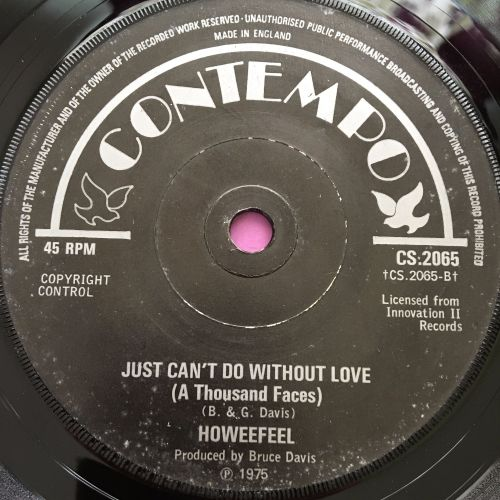 Howeefeel-Just can't do without love-UK Contempo E+