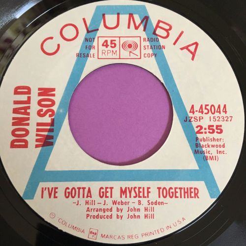 Donald Wilson-I've got to get myself together-Columbia WD E+