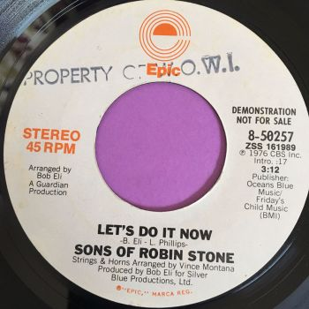 Sons of Robin Stone-Let's do it now-Epic Demo E+