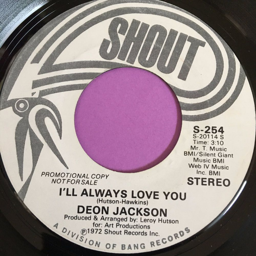 Deon Jackson-I'll always love you-Shout WD E+